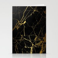 black and gold Stationery Cards featuring Black & Gold by Coconuts & Shrimps