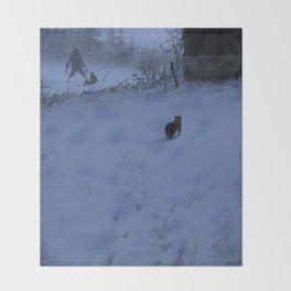 Night hunters Throw Blanket