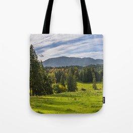 Alpine Landscape Tote Bag