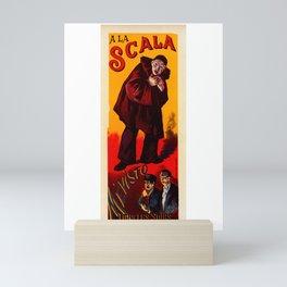 "Vintage poster ""A La Scala Mevisto Tous Les Soirs"" Mini Art Print"