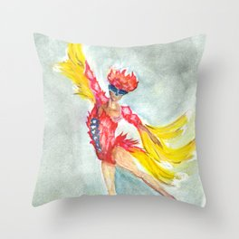 the dance of the firebird Throw Pillow
