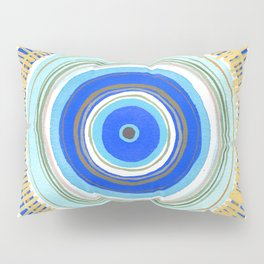 Turquoise Evil Eye Mandala Pillow Sham