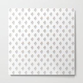 Jason Voorhees Pattern Metal Print