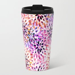 Colorful abstract watercolor flower pattern Travel Mug