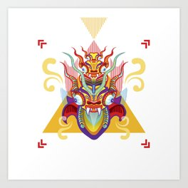 Peru Diablada - Devil Art Print