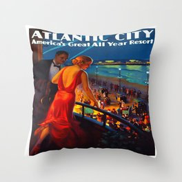 Atlantic City New Jersey Travel Throw Pillow