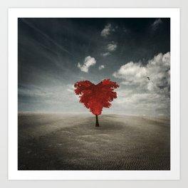 Heart Tree - Love Grows Everywhere Art Print