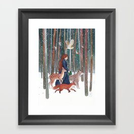 Through the Forest Framed Art Print