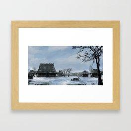 Japanese Lost Village Framed Art Print