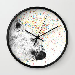 Polar Bear // Endangered Animals Wall Clock