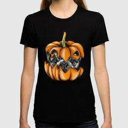 Halloween Pumpkin Pug T-shirt