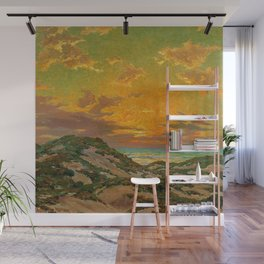 Sunset amid the Dunes by Granville Redmond Wall Mural