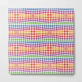 Dottywave - Rainbow wave dots pattern Metal Print