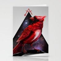 cardinal Stationery Cards featuring Cardinal by MyArti