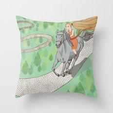 Beauty & The Beast Throw Pillow