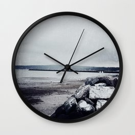 Winter Shore Wall Clock