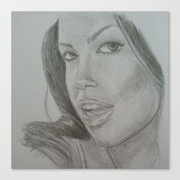 aaliyah Canvas Prints featuring Aaliyah by ShastaMD