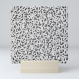 Learn the alfabet Mini Art Print