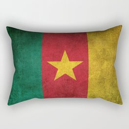 Old and Worn Distressed Vintage Flag of Cameroon Rectangular Pillow