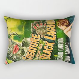 Creature from the Black Lagoon, vintage horror movie poster Rectangular Pillow
