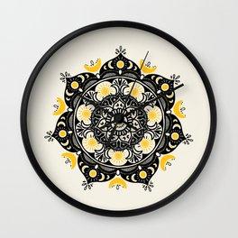 Sun and Moon Mandala Wall Clock