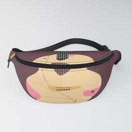 Acoustic guitar illustration Fanny Pack