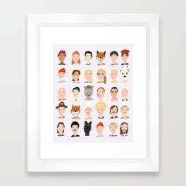 Wes Anderson Characters Framed Art Print