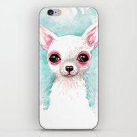 chihuahua iPhone & iPod Skins featuring Chihuahua by Black Fury