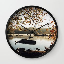 Sunrise on the Potomac Wall Clock