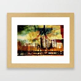 Darkness Tree - Double Exposure Framed Art Print