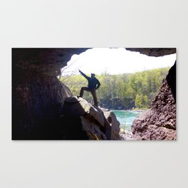 I Came, I Saw, I Hit 'em Right There in the Jaw Canvas Print