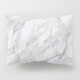 Grey and White Marble Pillow Sham