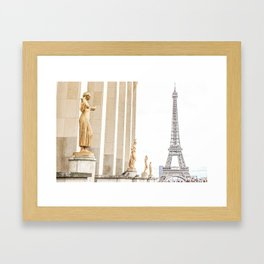 Golden tones in the air - The Eiffel Tower Framed Art Print