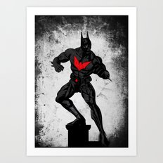 Beyond the dark night Art Print