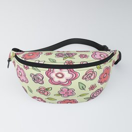 Whimsical Spring Flowers Fanny Pack