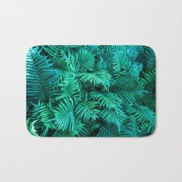 Fern Photography | Emerald | Turquoise |Tropical Leaves | Art Print Bath Mat