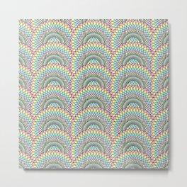 Spiralling Repetition Metal Print