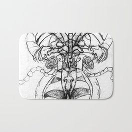 Butterfly with a man inside Bath Mat