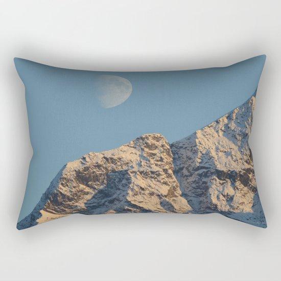 Moon Over Pioneer Peak - II Rectangular Pillow