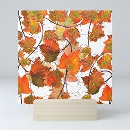 orange grapevine 2 Mini Art Print