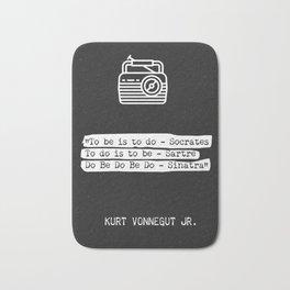 Kurt Vonnegut Jr. quote Bath Mat