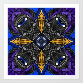 Alien eye breather Art Print