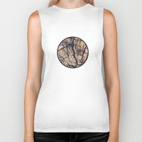 wood Biker Tanks featuring Wood by Crazy Thoom
