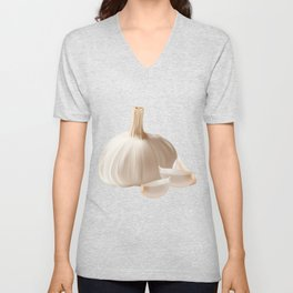 Garlic Cloves Design for Chef or or Culinary Cook  Graphic Unisex V-Neck
