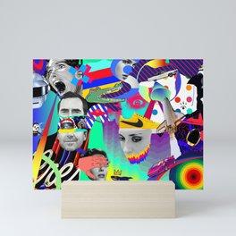 pop collage Mini Art Print