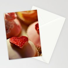 heart cupcakes Stationery Cards