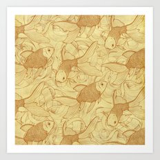 Vintage Goldfishes II Art Print