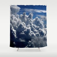 clouds Shower Curtains featuring clouds by  Agostino Lo Coco