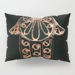 Golden Hamsa Hand On A Black Background #decor #society6 Pillow Sham