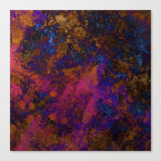 Day Dreaming - Abstract, metallic, textured, paint splatter style artwork Canvas Print